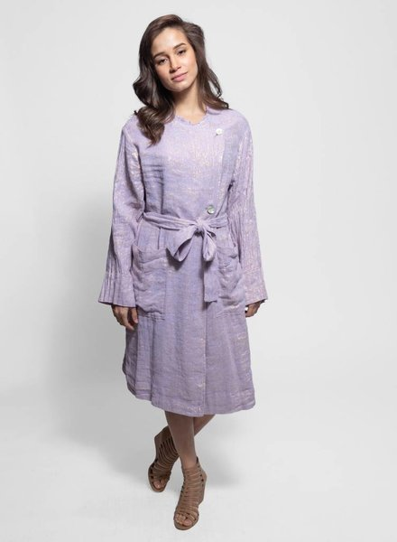 Raquel Allegra Cropped Trench Lilac