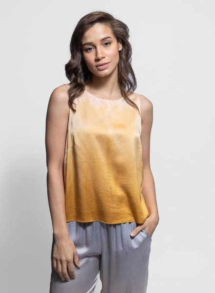 Raquel Allegra Low Back Tank Golden Sun Tie Dye