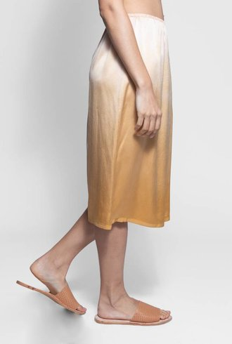 Raquel Allegra Slip Skirt Golden Sun Tie Dye