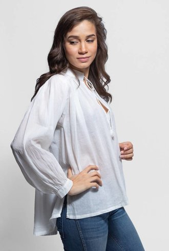 Trovata Colette Bohemian Blouse Antique White
