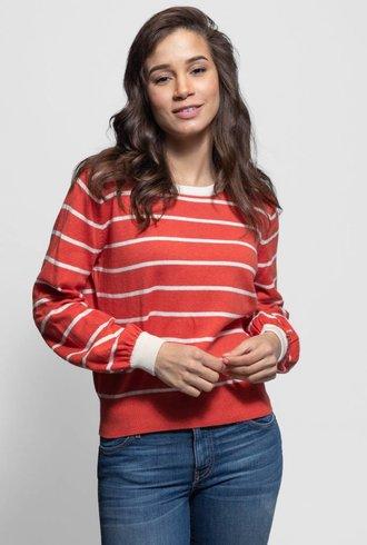 Trovata Stella Sweater Tomato Stripe