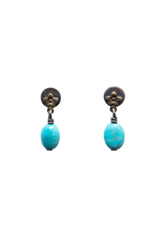 Beth Orduna Design Small Turquoise Drop Studs