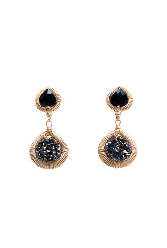 Dana Kellin Fine 14k Black Diamond Dangle Studs