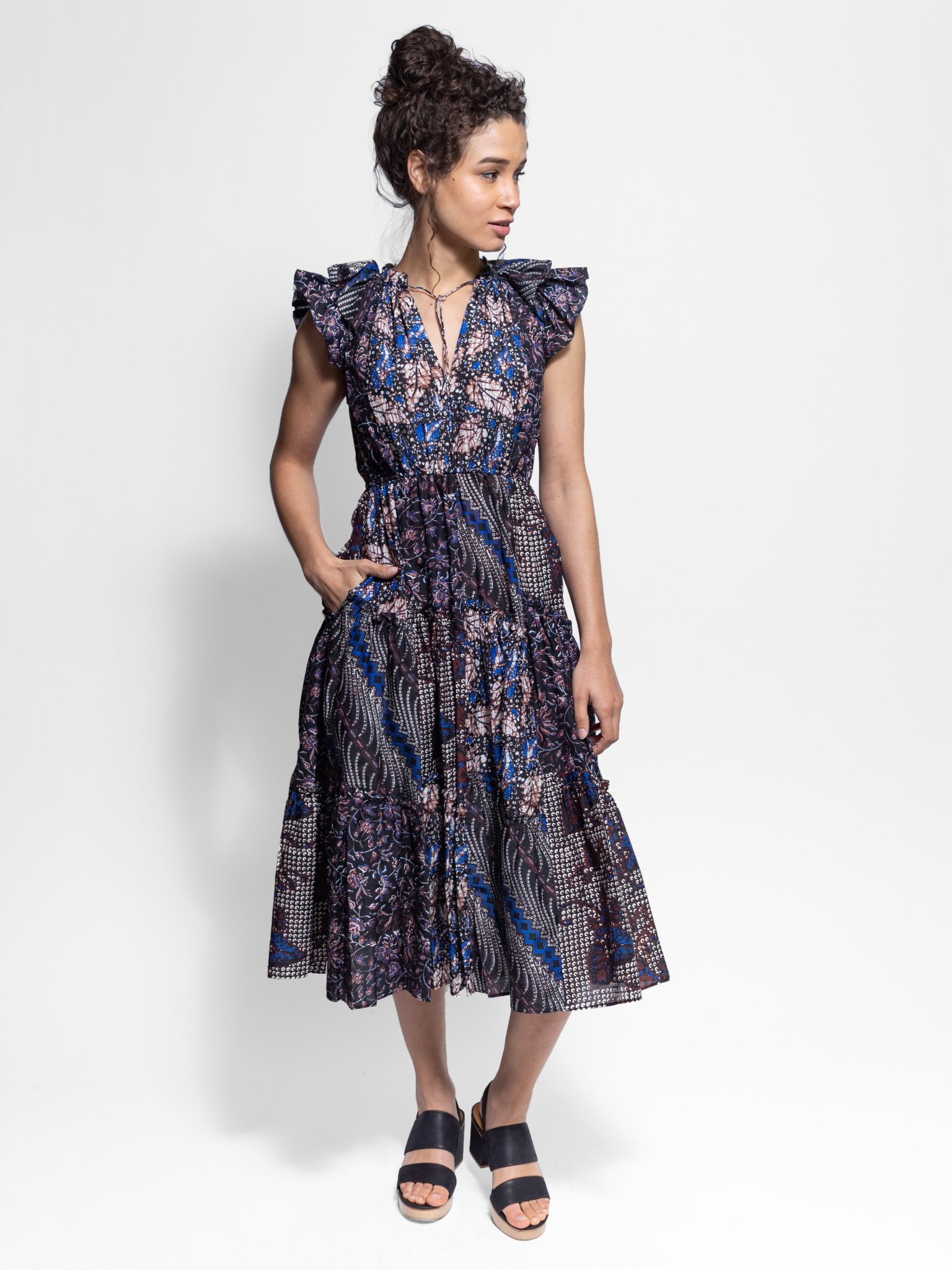 f84026aa53a67 Ulla Johnson - Asis Dress Indigo - Women's Clothing Boutique, Seattle