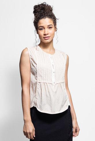 Burning Torch Bodie Japanese Cotton Sleeveless Shirt Natural