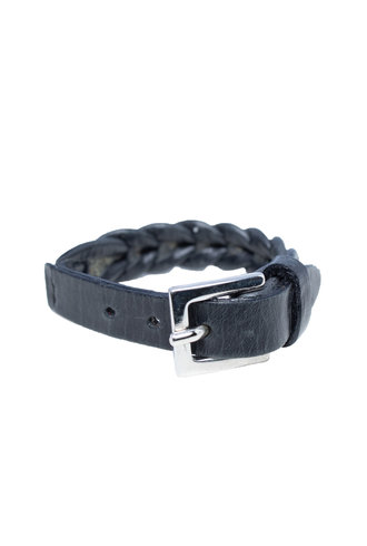 Orciani Leather Woven Bracelet