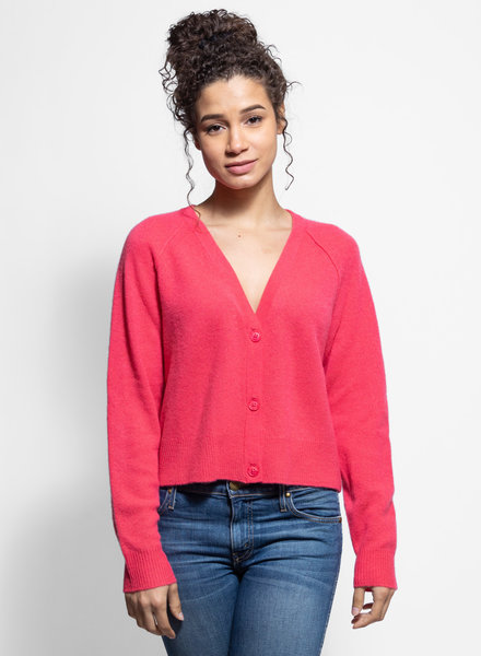 360 Sweater Jillian Button Cardigan Raspberry