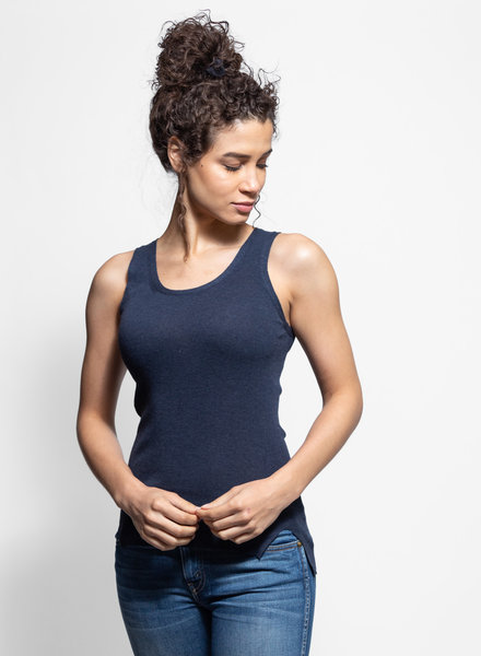 Inhabit Cotton Tank Navy