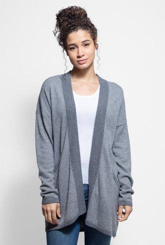 Kokun Mini Stripe Cardigan Cloud Grey