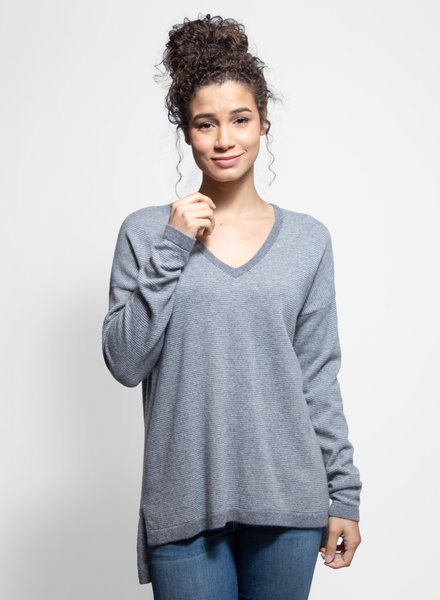 Kokun Mini Stripe Tunic Cloud Grey