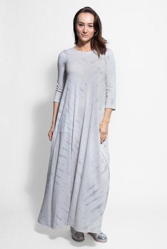 Raquel Allegra Half Sleeve Drama Maxi Air Tie Dye