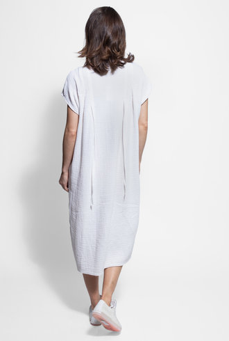 Raquel Allegra Ribbon Duster Dress White