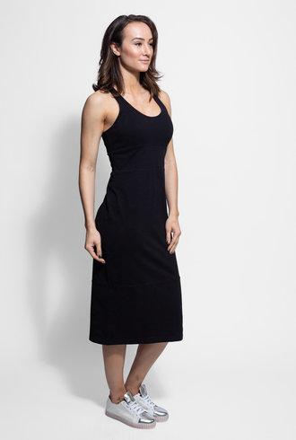 Raquel Allegra Jersey Tank Dress Black