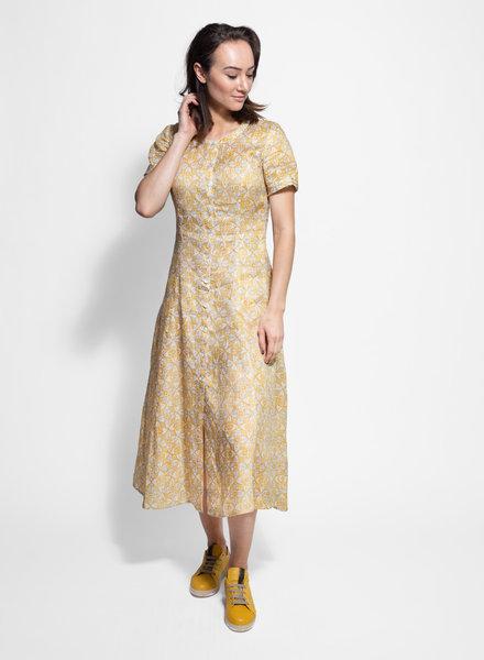 Raquel Allegra Big Sweep Dress Gold