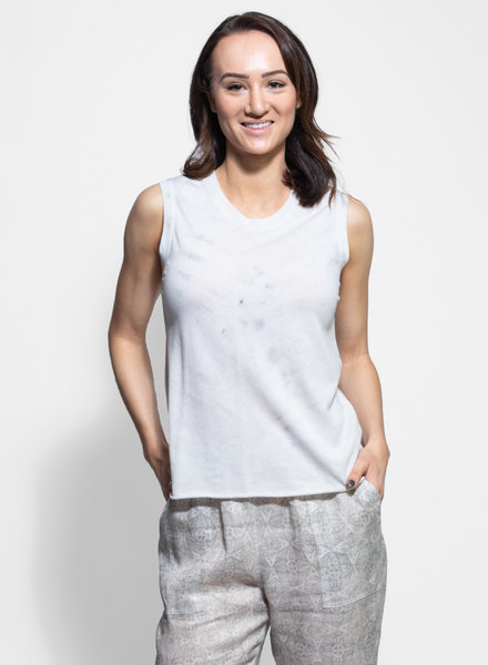 Raquel Allegra Fitted Muscle Tee Air Tie Dye