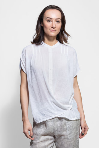 Raquel Allegra Pleat Blouse White