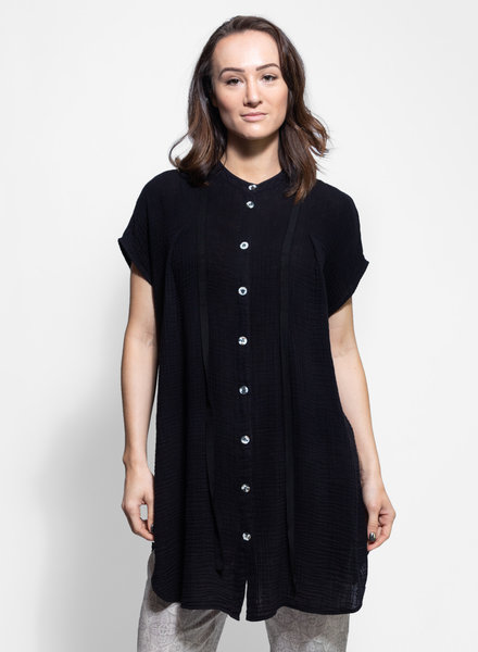 Raquel Allegra Ribbon Tunic Black