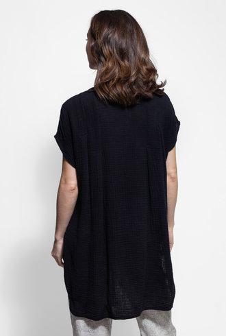 Raquel Allegra Ribbon Tunic Black