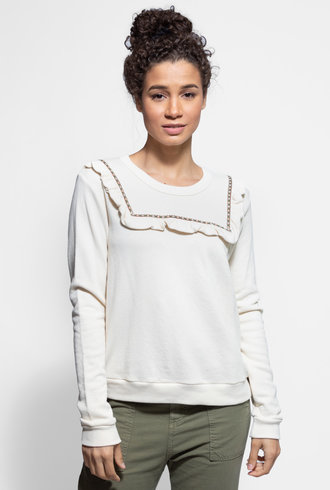 The Great Shrunken Bib Sweatshirt Washed White