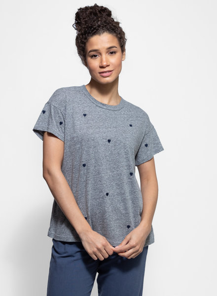 The Great Boxy Crew Heather Grey Hearts