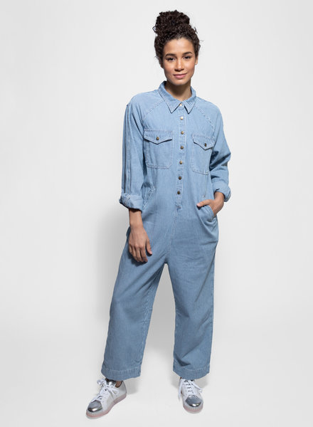 The Great Cropped Boiler Suit Boxcar Stripe