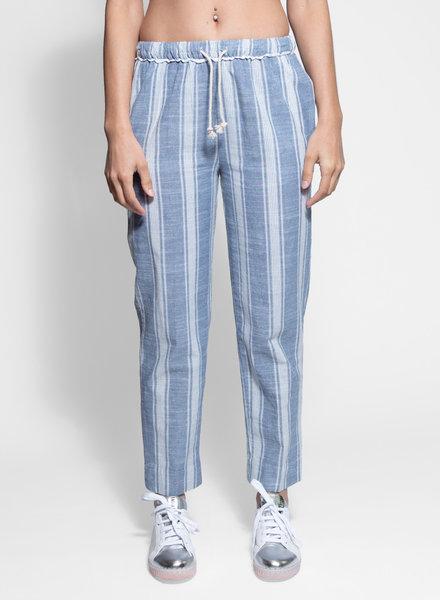 Trovata Penny Drawstring Pant Navy Stripe