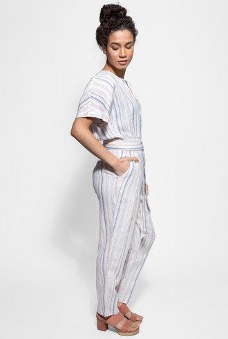 Trovata Brooke Jumpsuit Multi Stripe
