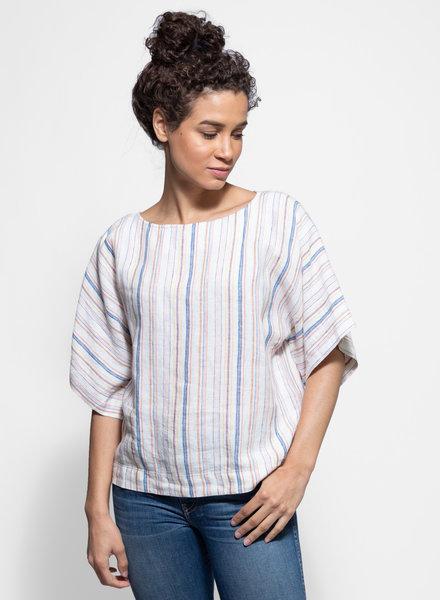Trovata Kiri Dolman Sleeve Top Multi Stripe