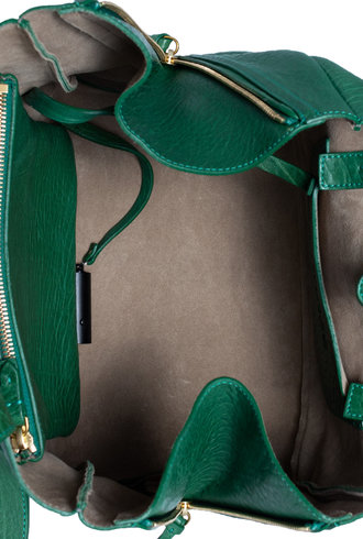 Jerome Dreyfuss Georges Bag M Vert Bubble Lambskin