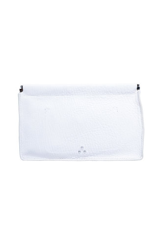 Jerome Dreyfuss Clic Clac Clutch L Blanc Bubble Lambskin