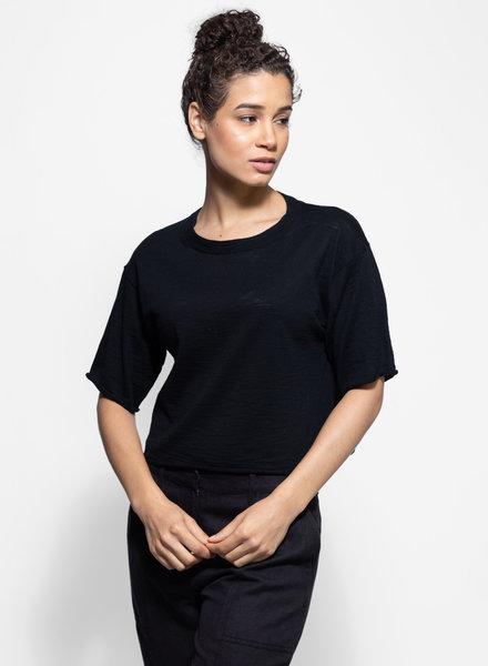 360 Sweater Lola Wide Neck Top Black