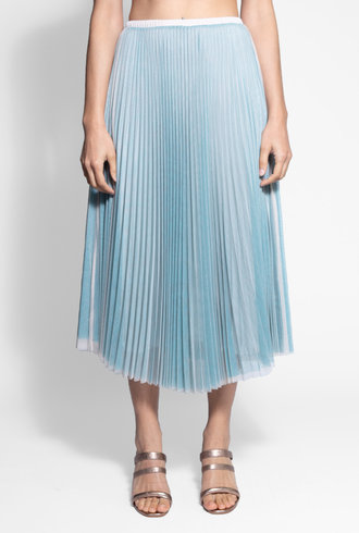 Loyd/Ford Layered Mesh Skirt Azul Blush
