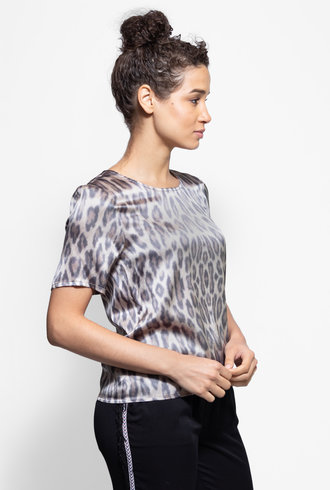 Loyd/Ford Short Sleeve Silk Tee Cheetah