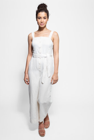 Apiece Apart Deia Jumpsuit Cream
