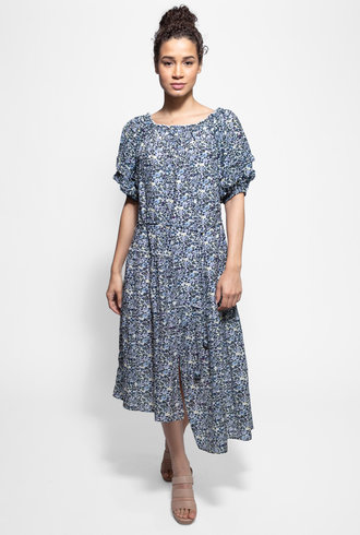 Apiece Apart Sandrine Dress Navy Floral
