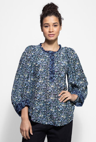 Apiece Apart Everlasting Top Navy Floral