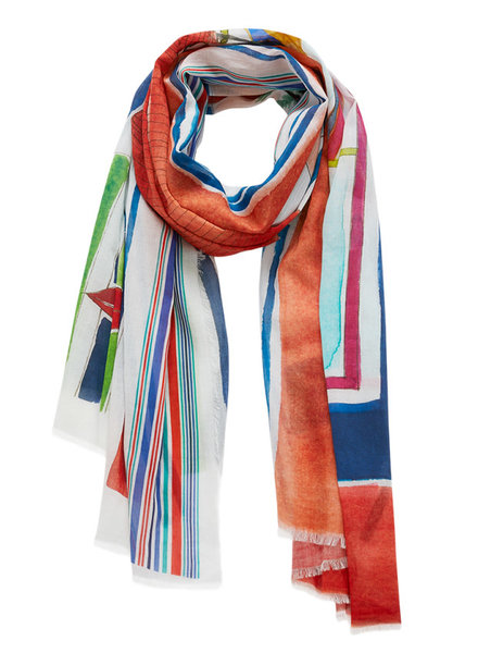 Inouitoosh Alma Scarf Red Green / Rouge Vert