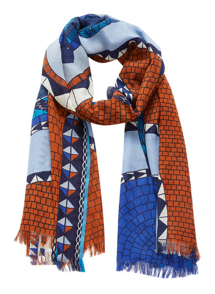 Inouitoosh Mozaique Scarf Blue Brown / Bleu Marron