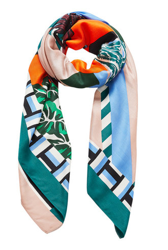 Inouitoosh Paloma Scarf Green Orange / Vert Orange