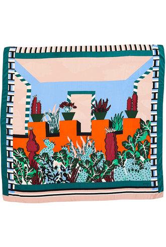 Inouitoosh Paloma Scarf Green Orange / Vert Orange