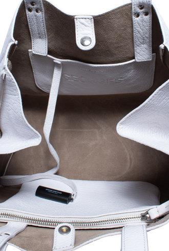 Jerome Dreyfuss Georges Bag M Blanc Bubble Lambskin
