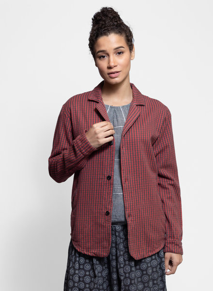 Bsbee Brixen Jacket Campus Check Red