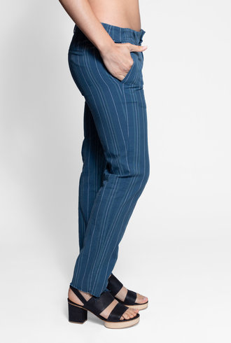 Bsbee Oxford Pant Becca Stripe Indigo