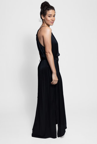 Raquel Allegra Halter Dress Black