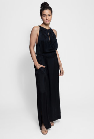 Raquel Allegra Halter Dress Black