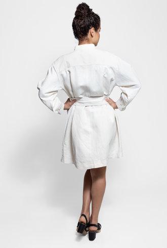 Apiece Apart Aragon Mini Dress Cream