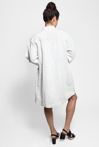 Apiece Apart Aragon Mini Dress Cream