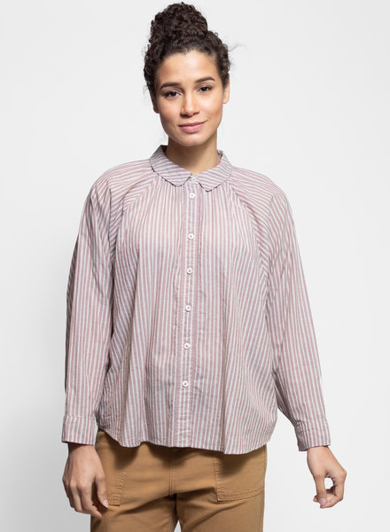 The Great Estate Button Up Antique Dobby Stripe
