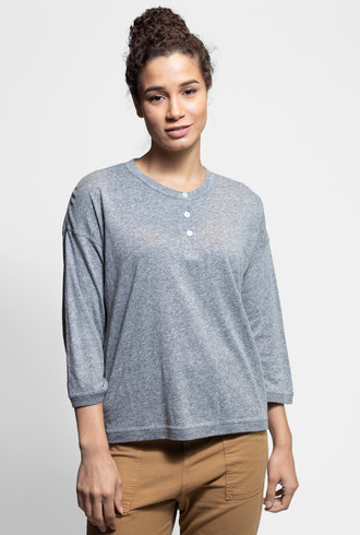 The Great Shrunken Henley Heather Grey