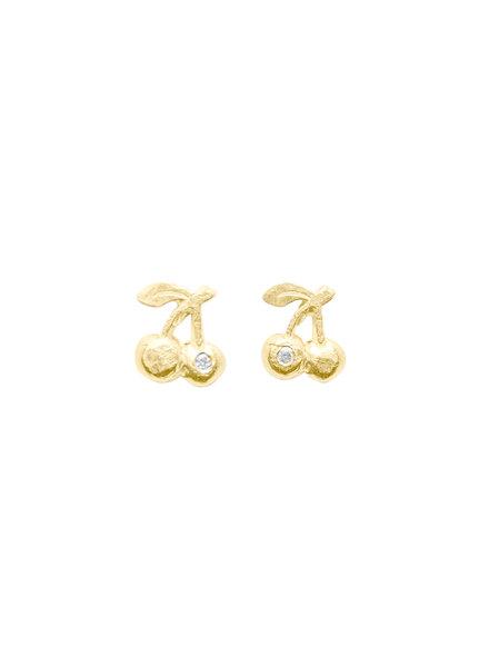 Victoria Cunningham 14K Gold Cherries Earrings